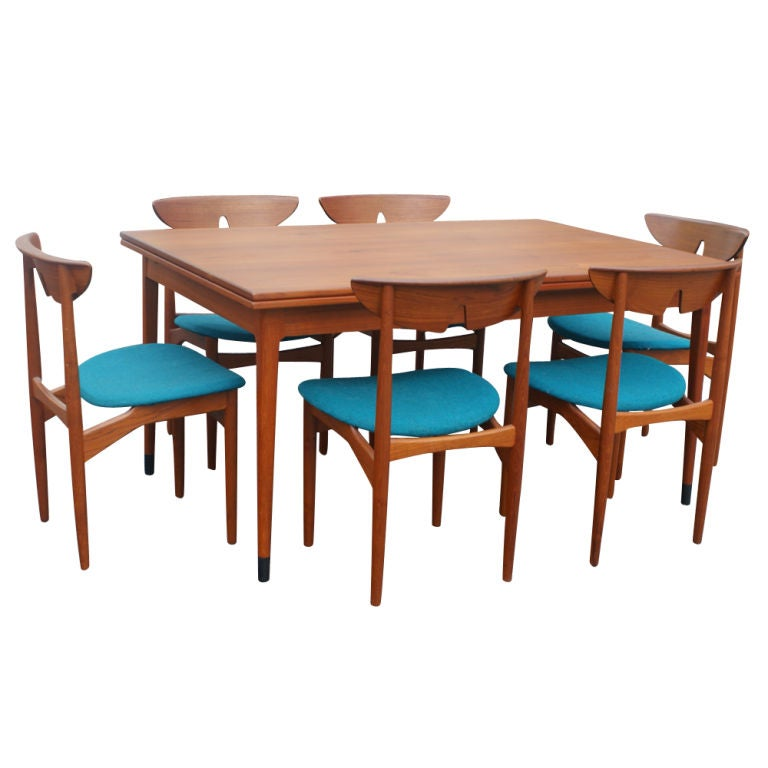 Teak Dining Table And Chairs: Three Kurt Ostervig Scandinavian Teak Dining Chairs For