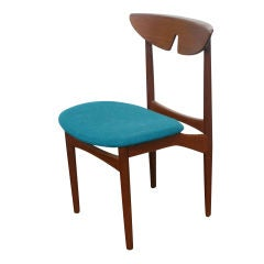 Three Kurt Ostervig Scandinavian Teak Dining Chairs