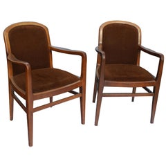 Pair Of Jack Lenor Larsen Lounge Arm Chairs