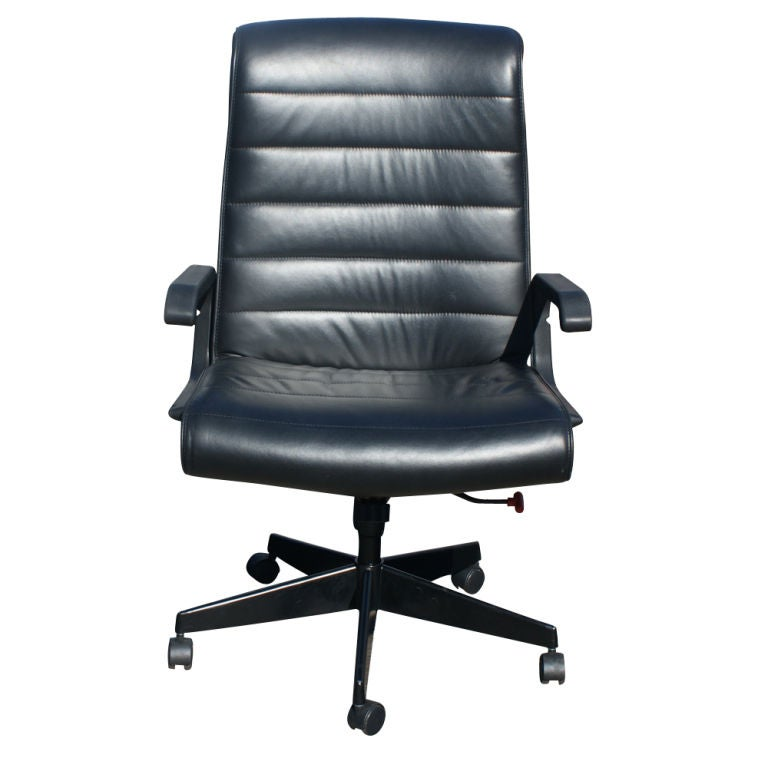 this richard sapper for knoll leather executive chair is no longer