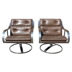 Pair Of Gardner Leaver For Steelcase Lounge Chairs