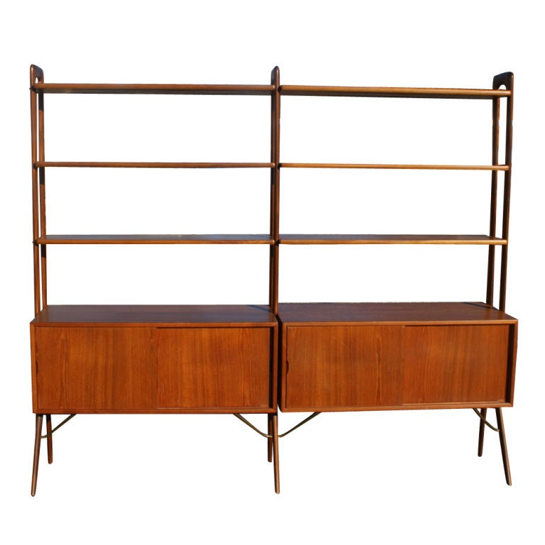 kurt ostervig scandinavian teak shelf unit room divider at. Black Bedroom Furniture Sets. Home Design Ideas