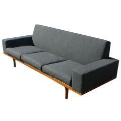 Vintage Danish Mid Century Illum Wikkelso Teak Sofa