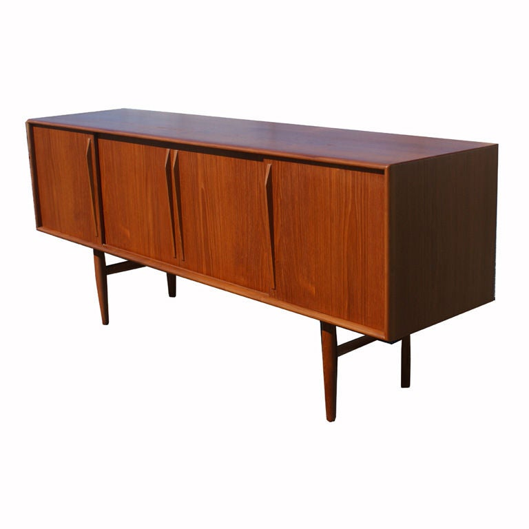 Kurt ostervig scandinavian teak buffet sideboard at 1stdibs for Sideboard scandi