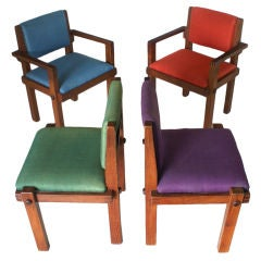 Four Brazilian Rosewood Dining Chairs