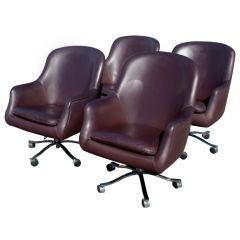 Four Nicos Zographos For Zographos High Back Executive Chairs