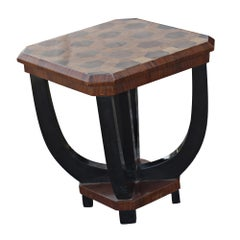 Art Deco Inlaid Rosewood Lamp End Table