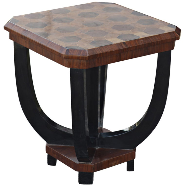 Art Deco Inlaid Rosewood Lamp End Table at 1stdibs