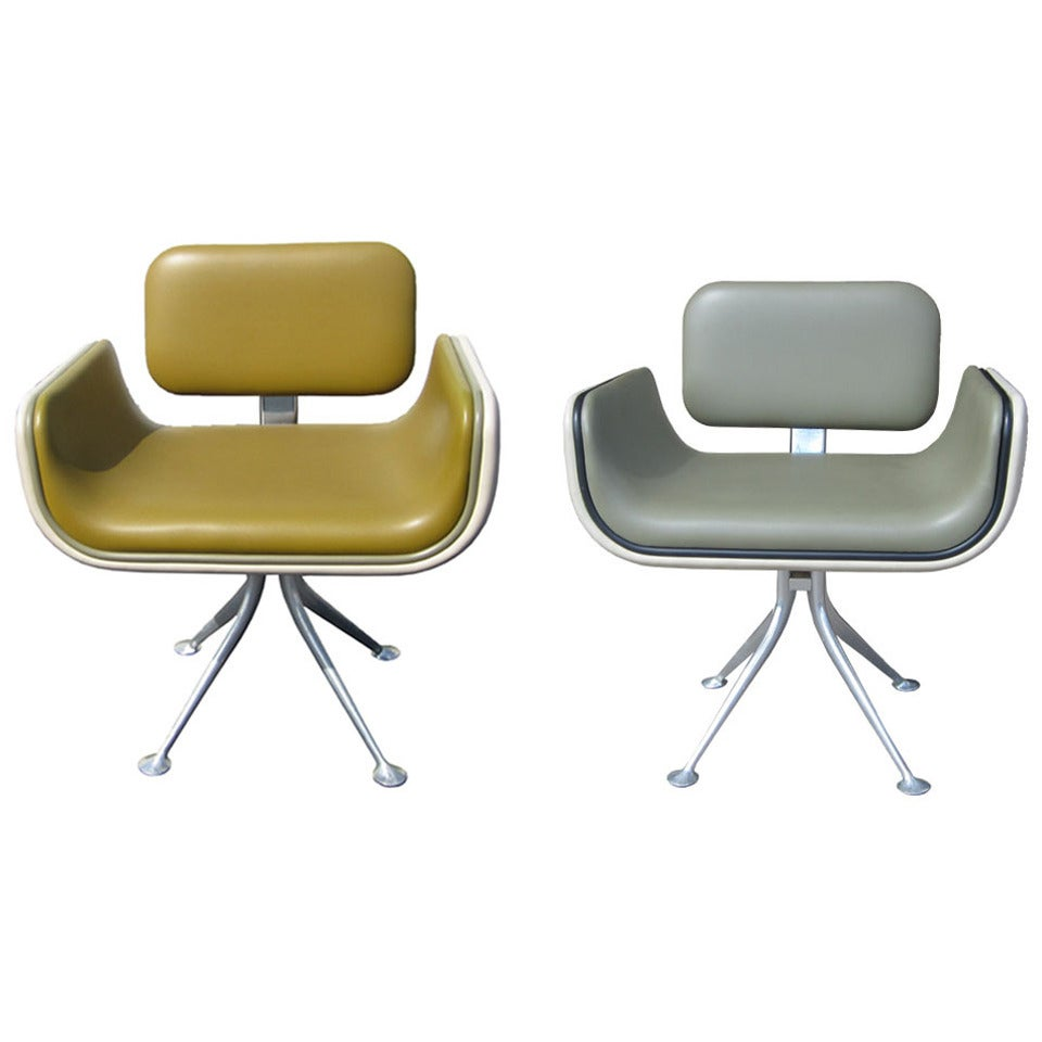 Rare Pair of Vintage Side Chairs Designed by Alexander Girard for