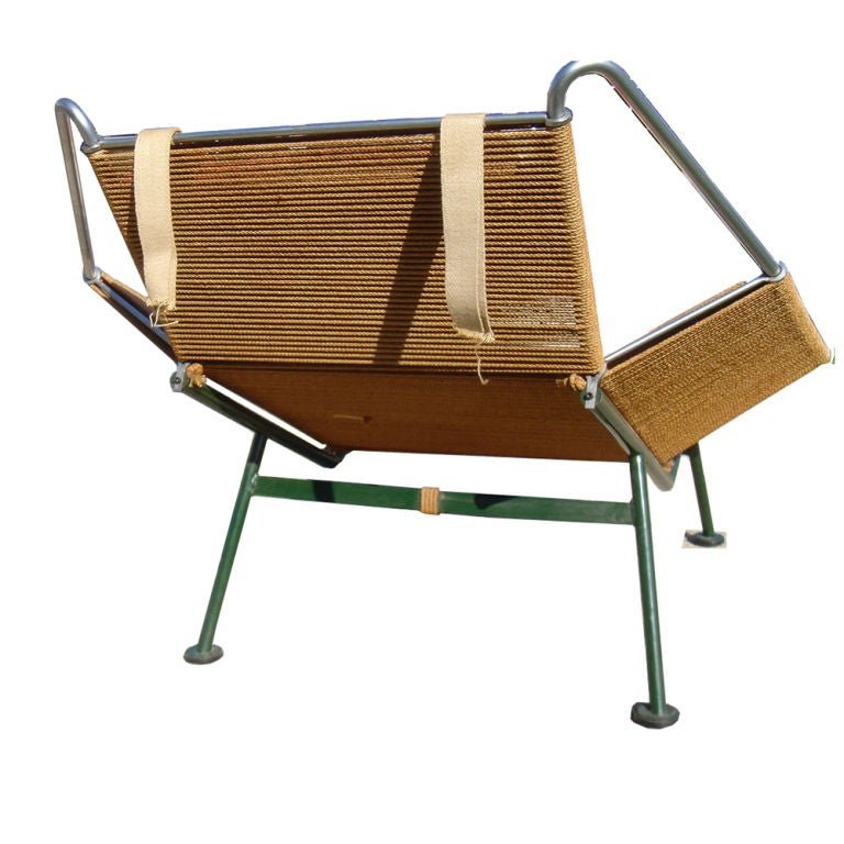 Hans Wegner Flag Halyard Lounge Chair In Excellent Condition For Sale In Pasadena, TX
