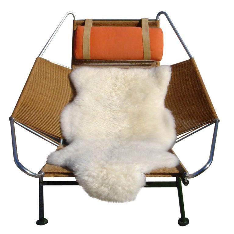Hans Wegner Flag Halyard Lounge Chair For Sale