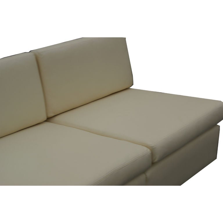 Charles Pfister For Knoll L-Shaped Leather Sectional Sofa 3  sc 1 st  1stDibs : knoll sectional - Sectionals, Sofas & Couches