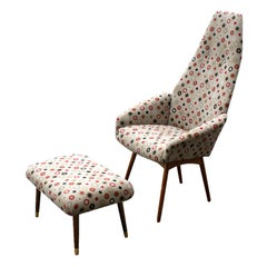 Adrian Pearsall For Craft Associates Lounge Chair & Ottoman