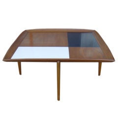 3 FT Square John Keal For Brown Saltman Checkered  Coffee Table sale