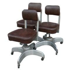 Three Emeco Industrial Age Secretarial Desk Chairs