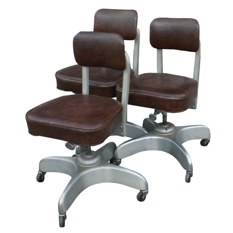 Three Emeco Industrial Age Secretarial Desk Chairs at 1stdibs