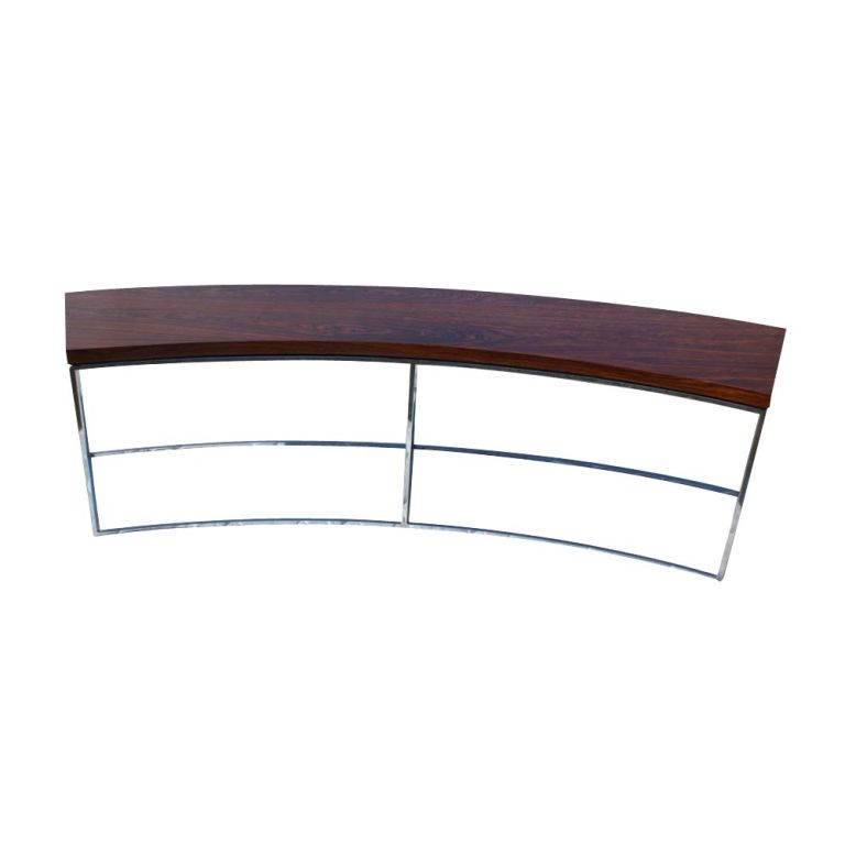 Milo baughman for thayer coggin curved sofa table bench at for Curved sofa table for sectional