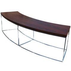 Milo Baughman For Thayer Coggin Curved Sofa Table Bench