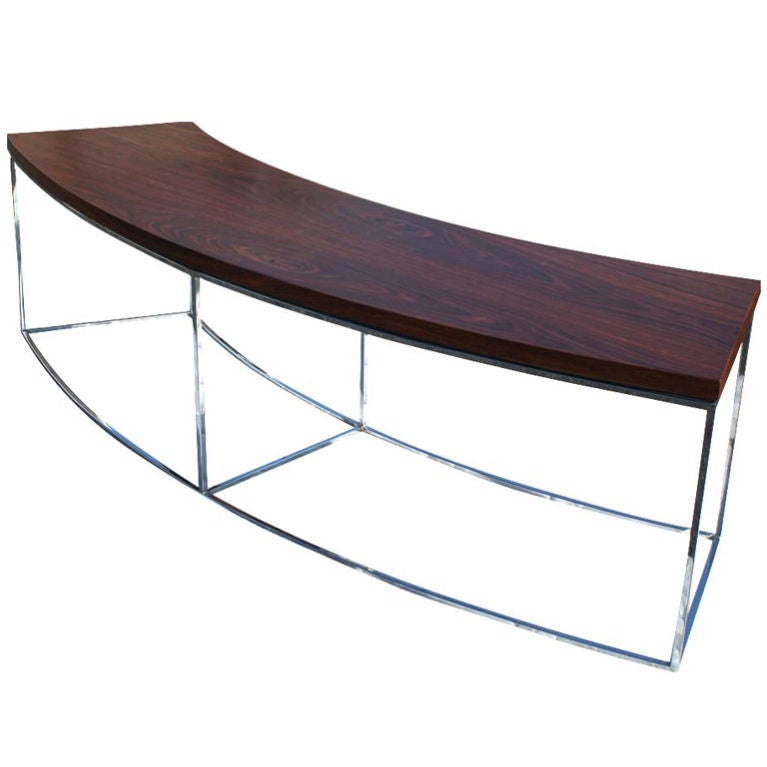 Milo Baughman For Thayer Coggin Curved Sofa Table Bench At