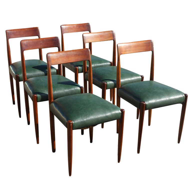 Six Niels Moller Teak Dining Chairs