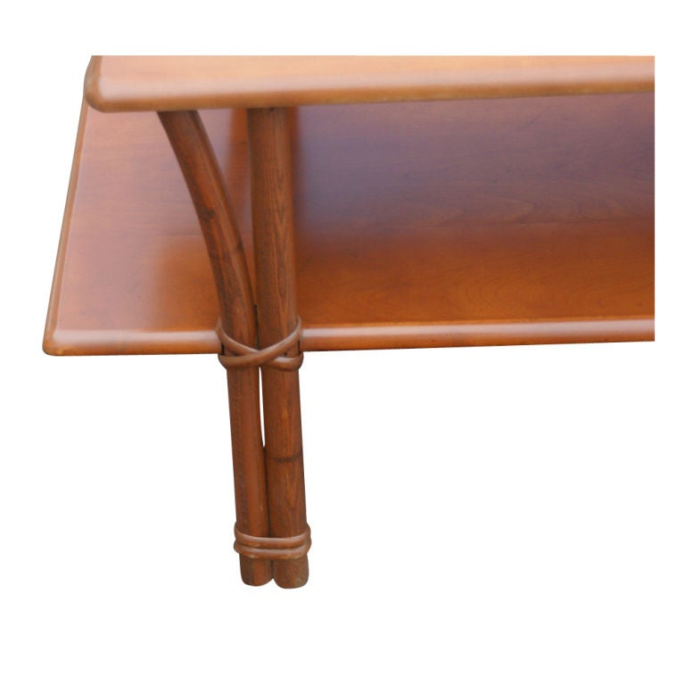 Heywood Wakefield Bamboo Coffee Table For Sale at 1stdibs