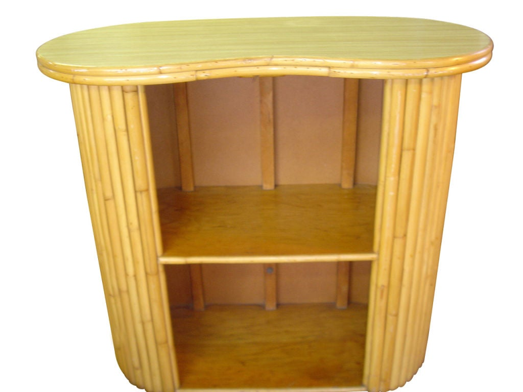 vintage rattan tiki bar and stools at 1stdibs. Black Bedroom Furniture Sets. Home Design Ideas