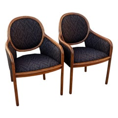 Pair Of Ward Bennett For Brickel Arm Chairs