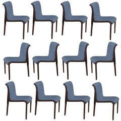 Twelve Bill Stephens For Knoll Dining Side Chairs