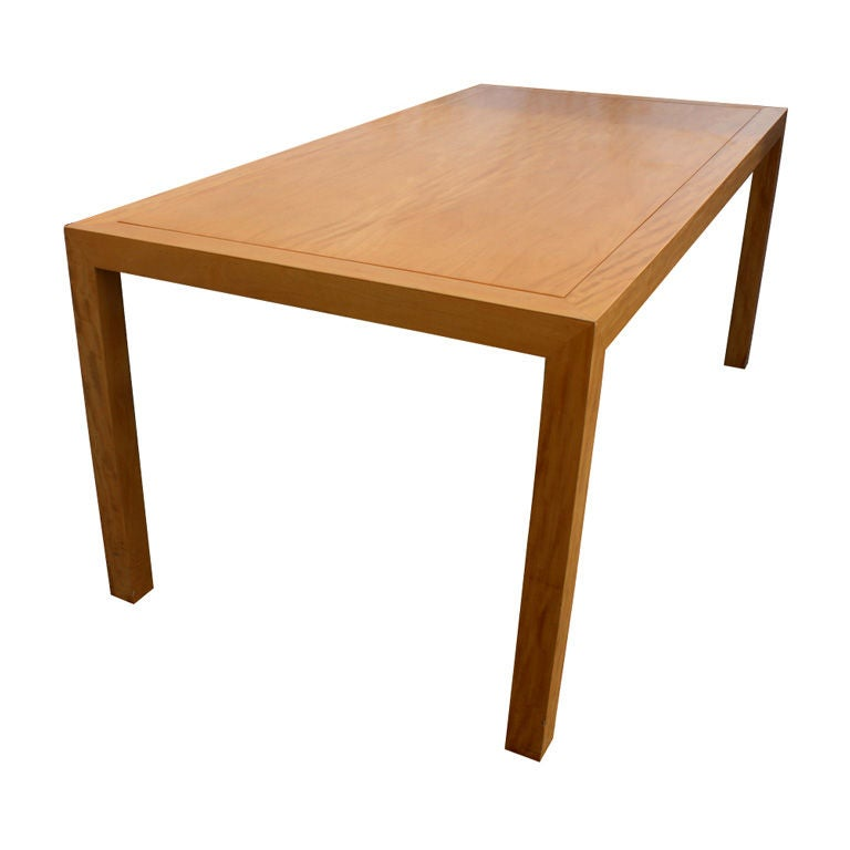 Custom made curly maple dining table desk at 1stdibs for Maple dining table