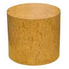 Milo Baughman Burled Pedestal Side Table
