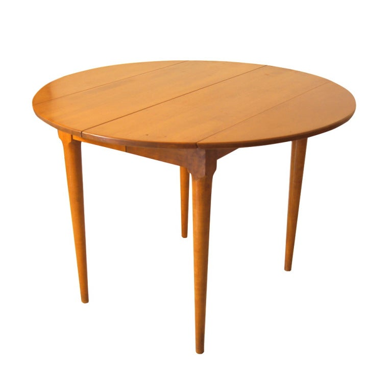Russel Wright For Conant Ball Drop Leaf Dining Table At