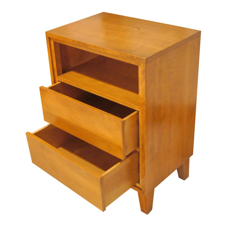 Russel Wright For Conant Ball Nightstand Cabinet At 1stdibs