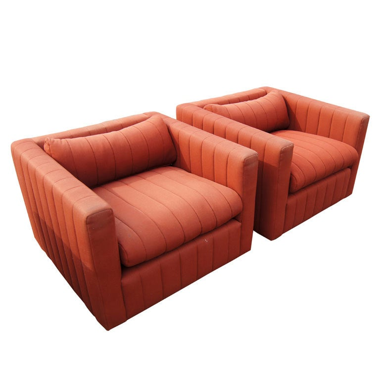 Pair Of Nicos Zographos For Zographos Lounge Chairs