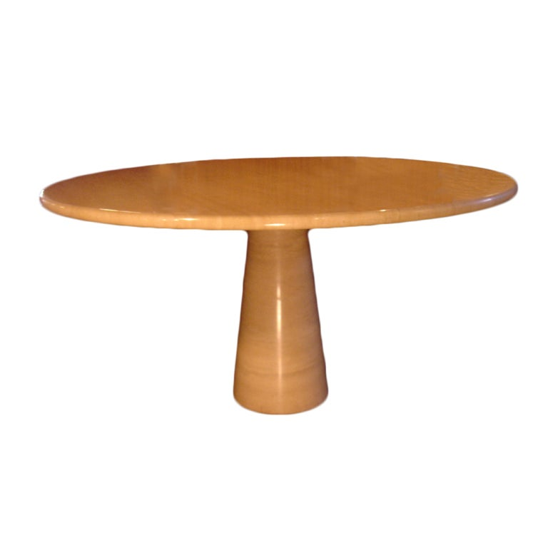 Roche bobois polished travertine dining table for sale at - Table ovale marbre roche bobois ...