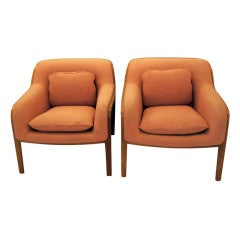 Pair Of Bill Stephens For Knoll Lounge Chairs