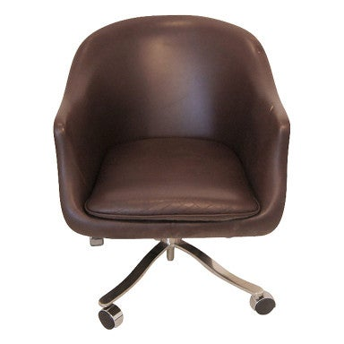 Nicos Zographos Brown Leather Bucket Chair 5 Available At