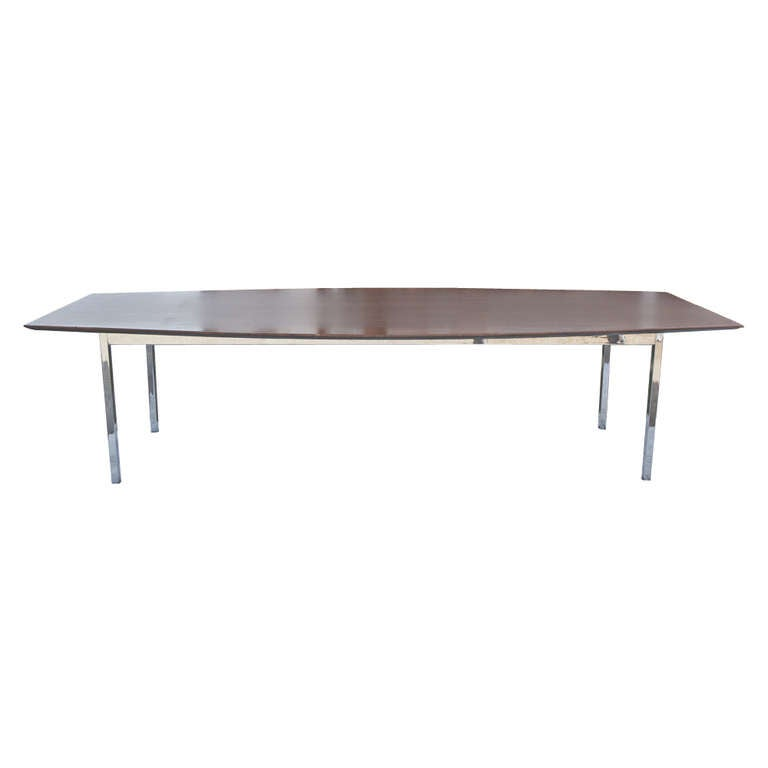 Florence Knoll For Knoll Rosewood Conference Table At 1stdibs