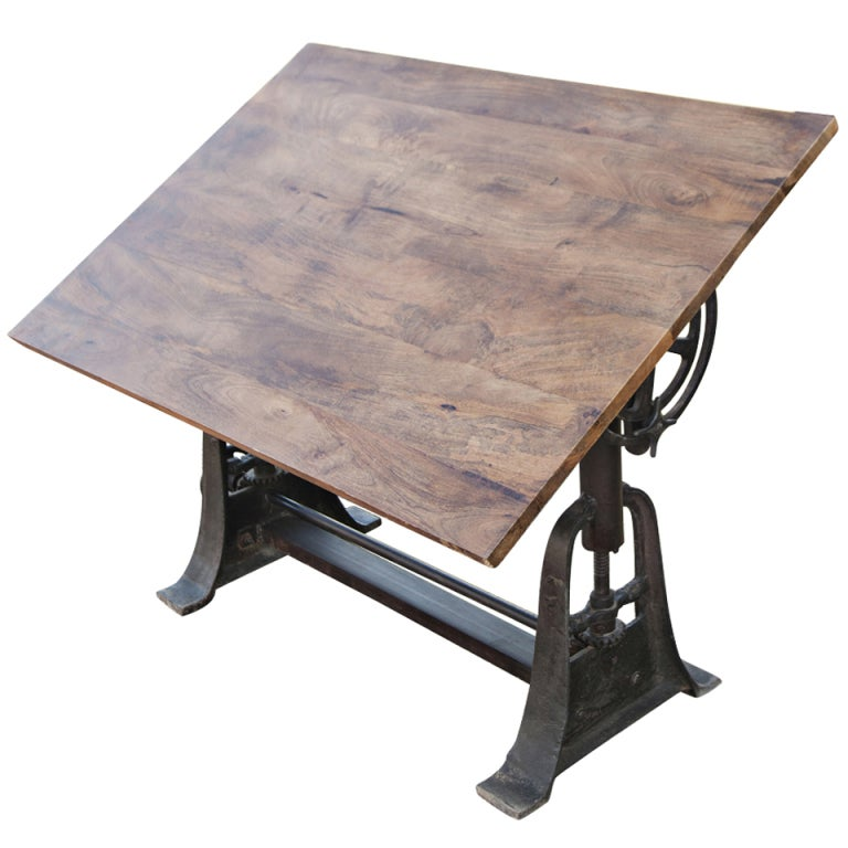 Drafting Table And Desk Wood And Steel Industrial