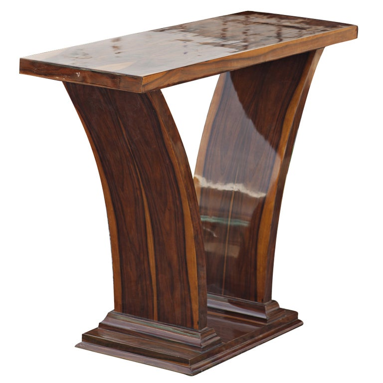 art deco style rosewood console table for sale at 1stdibs. Black Bedroom Furniture Sets. Home Design Ideas