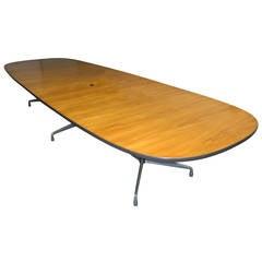 Vintage Wood Veneer Conference Table Designed by Eames for Herman Miller