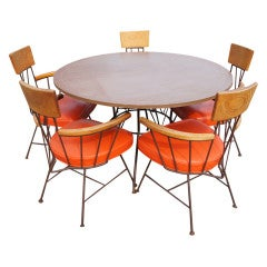Richard McCarthy for Selrite Dining Table And Five Arm Chairs