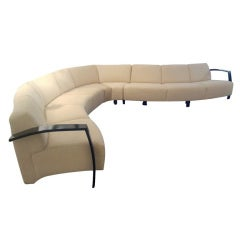 Large Serpentine Sectional Sofa