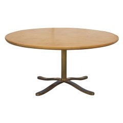 Nicos Zographos For Zographos Exotic Burled Dining Table