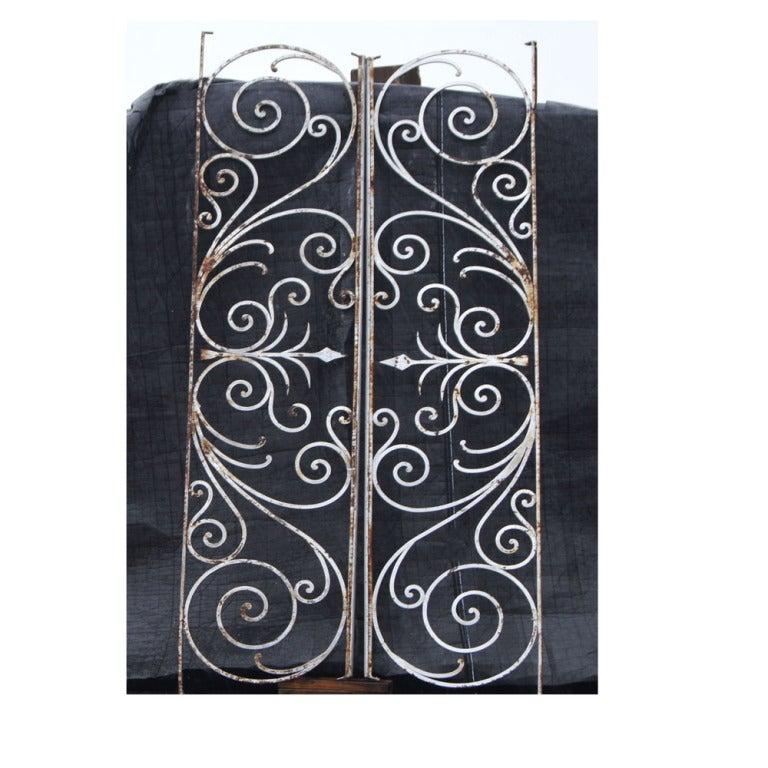 Vintage tall wrought iron gates at stdibs