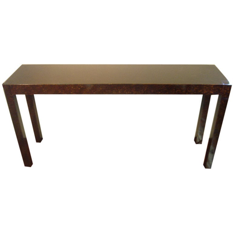 Faux Finished Parsons Style Console Table At 1stdibs