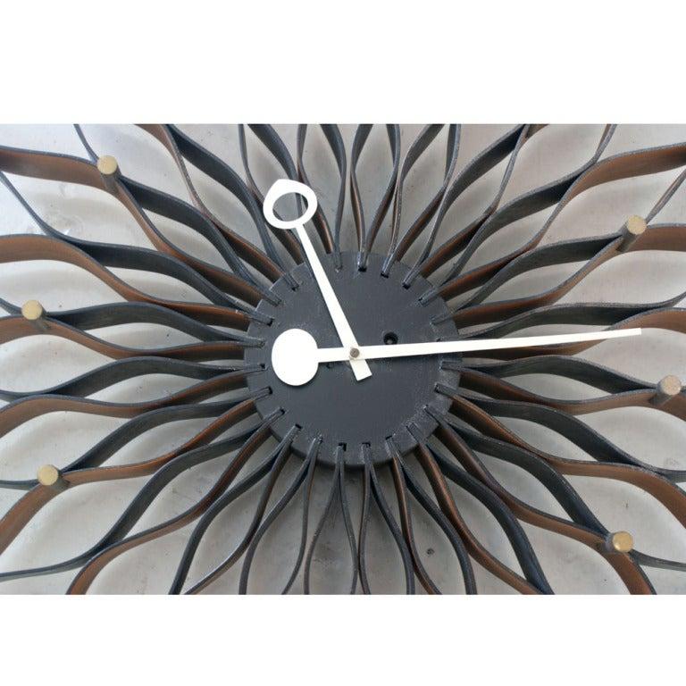 American George Nelson For Howard Miller Sunflower Clock For Sale