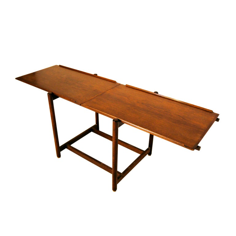 Danish teak extension console table for sale at 1stdibs for Extension coffee table