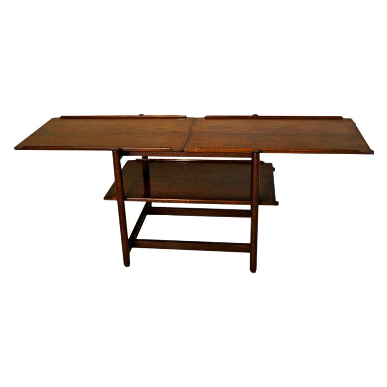 Danish teak extension console table for sale at 1stdibs for Coffee table extension