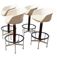 Set Of Four Saarinen Style Burke Bar Stools