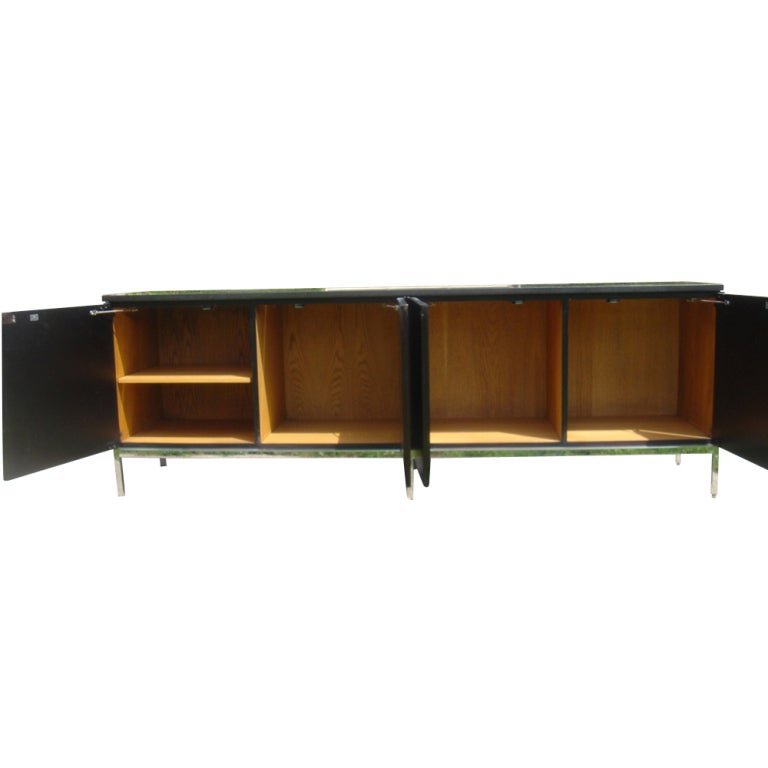 florence knoll for knoll ebonized credenza buffet at 1stdibs. Black Bedroom Furniture Sets. Home Design Ideas